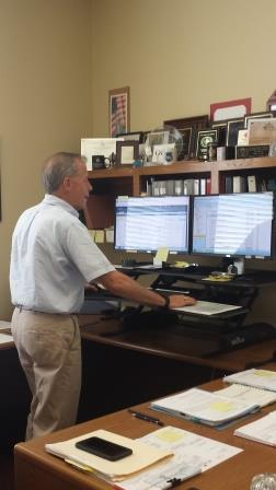 """Commercial Producer, Buck Inabinet shown """"standing"""" for clients."""
